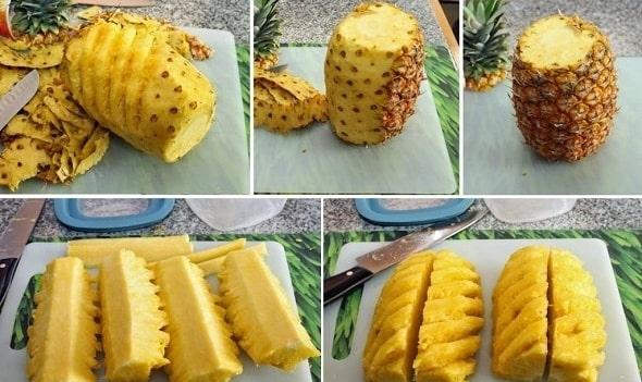 kak chistit ananas