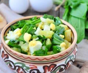 Салат с черемшой рецепты: топ 3 варианта