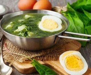 Холодный щавелевый суп рецепты
