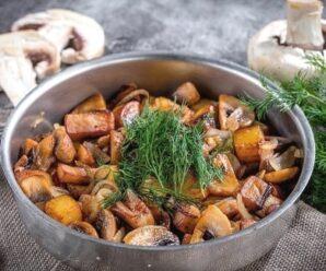 Сколько жарить белые грибы на сковороде